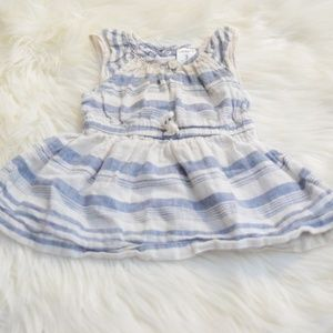 Blue/White Linen Tie Dress